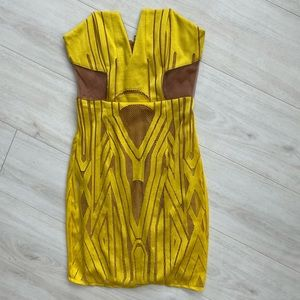 Shona Joy the desired dress yellow bodycon 2